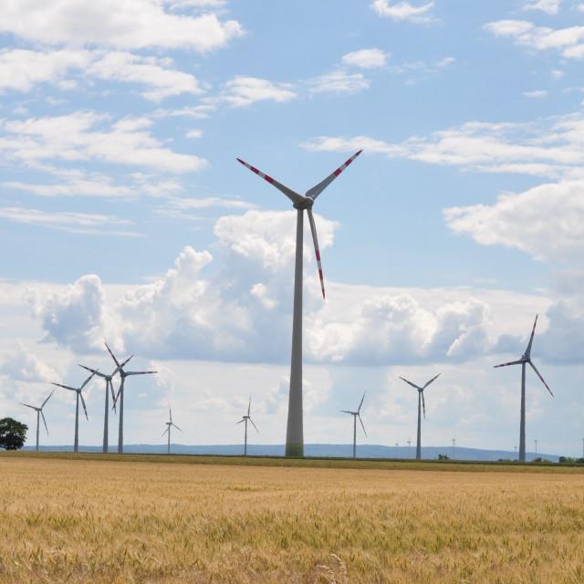 """Carnuntum Windmills"" stock image"