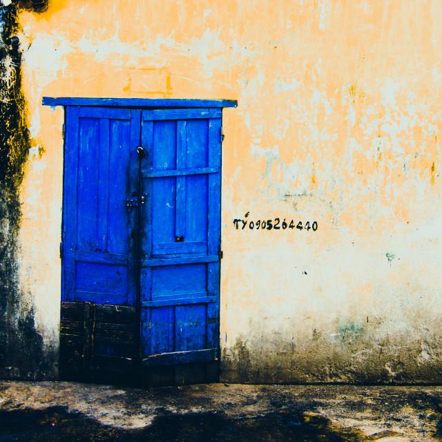 """""""A blue door"""" stock image"""