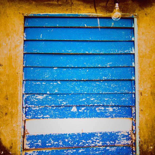 """A blue window"" stock image"