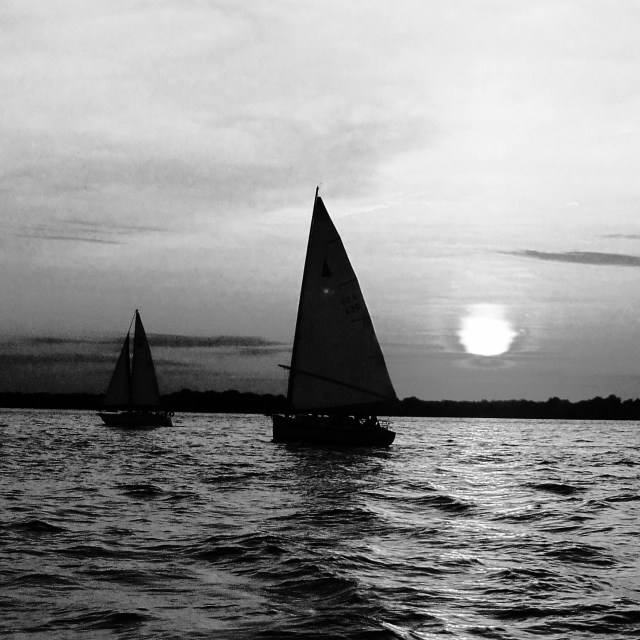 """Evening Sail"" stock image"