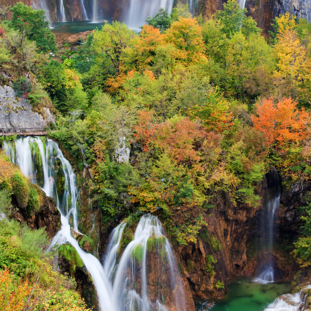 """Waterfalls in Plitvice Lakes National Park"" stock image"