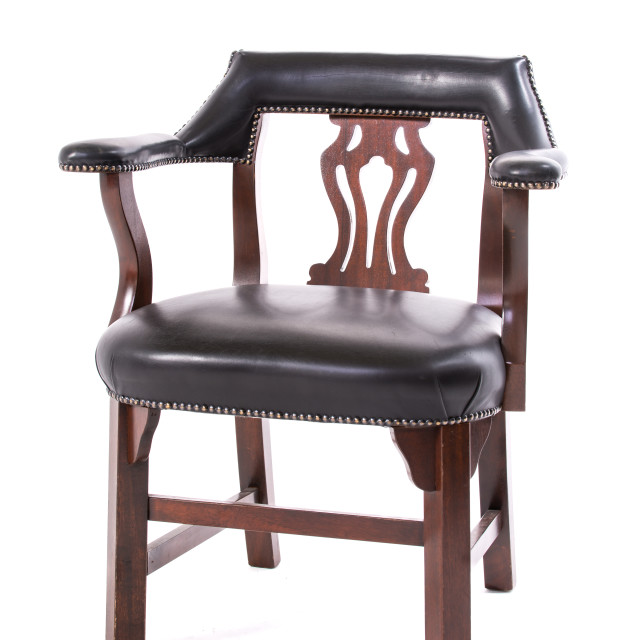 """""""old chair leather upholstery"""" stock image"""