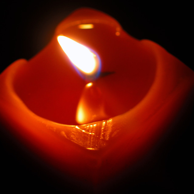 """Candle in the Wind"" stock image"
