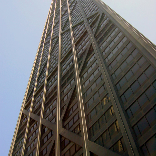 """John Hancock Tower Chicago"" stock image"