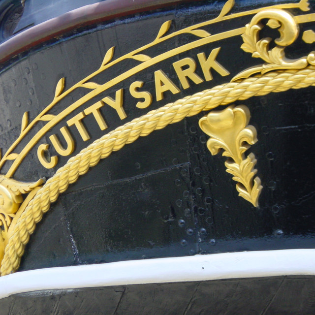 """Cutty Sark Stern"" stock image"