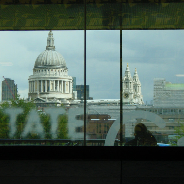 """Tate Cafe - St Paul's Cathedral"" stock image"