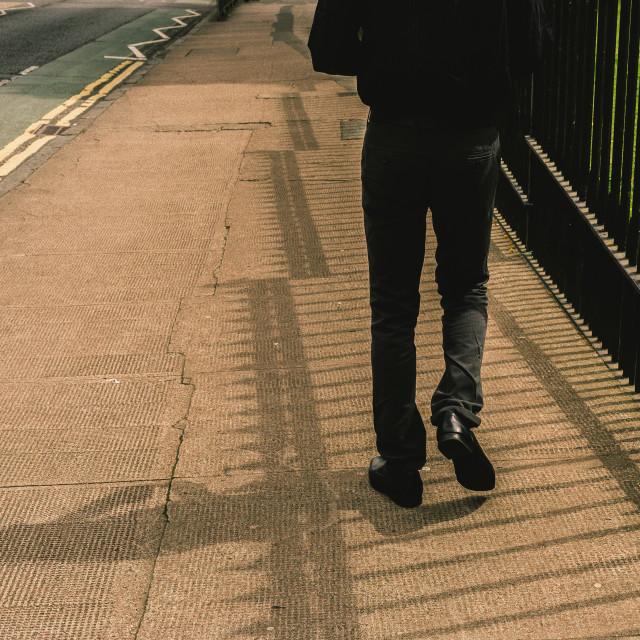 """Walking shadow"" stock image"