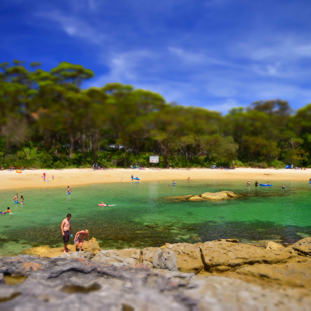 """Honeymoon Bay Minature"" stock image"