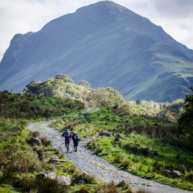 """""""Lake District walking"""" stock image"""