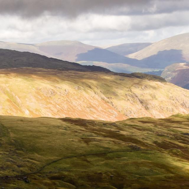 """Lakeland Panorama, Cumbria - 2"" stock image"