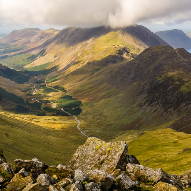 """Lakeland Panorama, Cumbria - 1"" stock image"