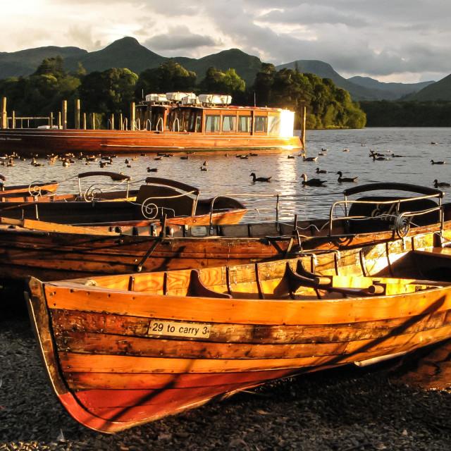 """Derwentwater Boats - 1"" stock image"