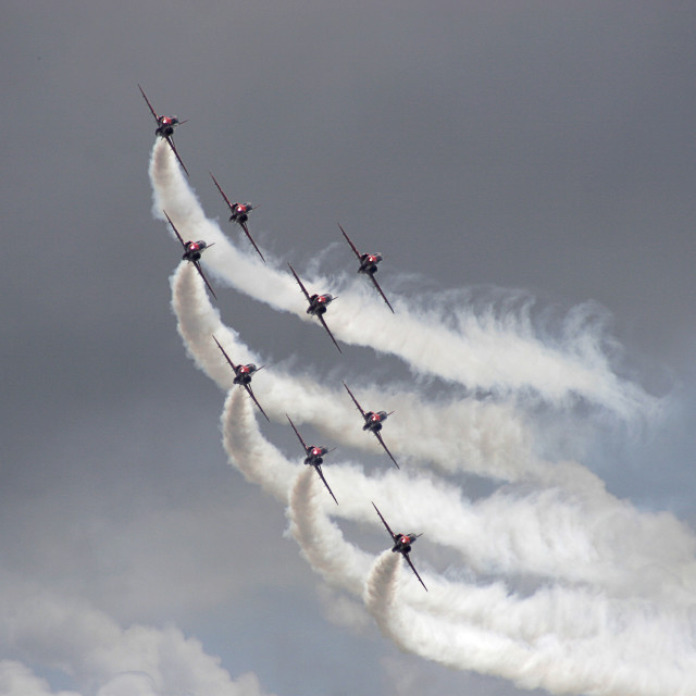 """Red Arrows 10"" stock image"