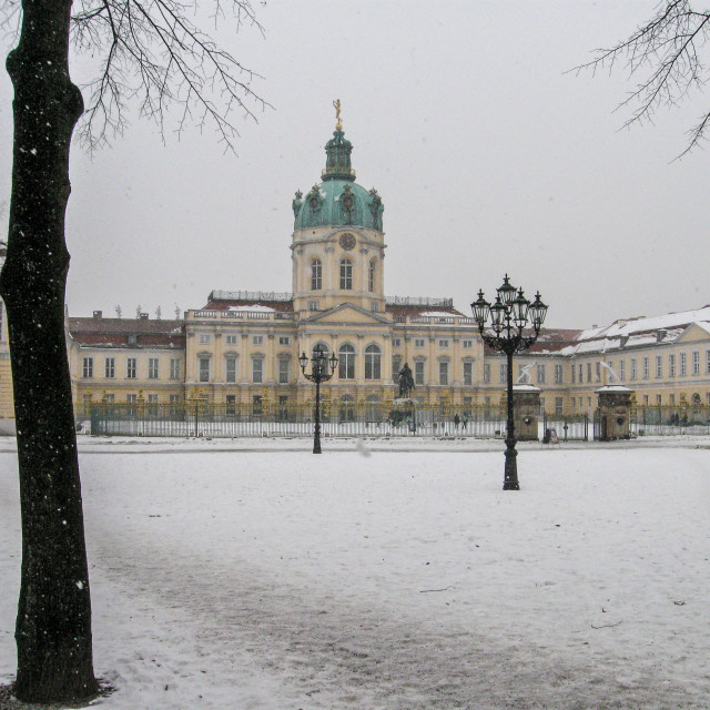 """""""Charlottenburg Palace, Berlin, in the snow"""" stock image"""