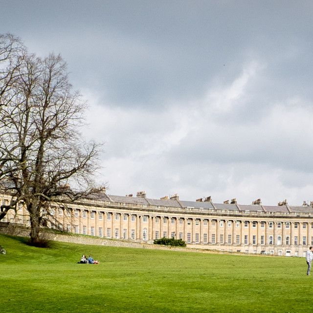 """The Royal Crescent, Bath"" stock image"