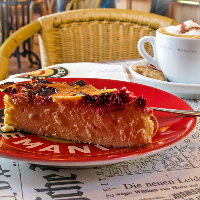 """""""Coffee and cake in a Berlin cafe"""" stock image"""