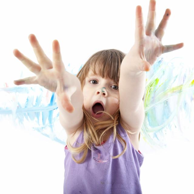 """messy child"" stock image"