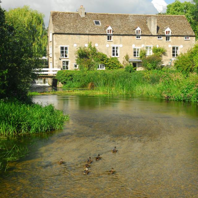 """""""Wadenhoe Mill - 5"""" stock image"""