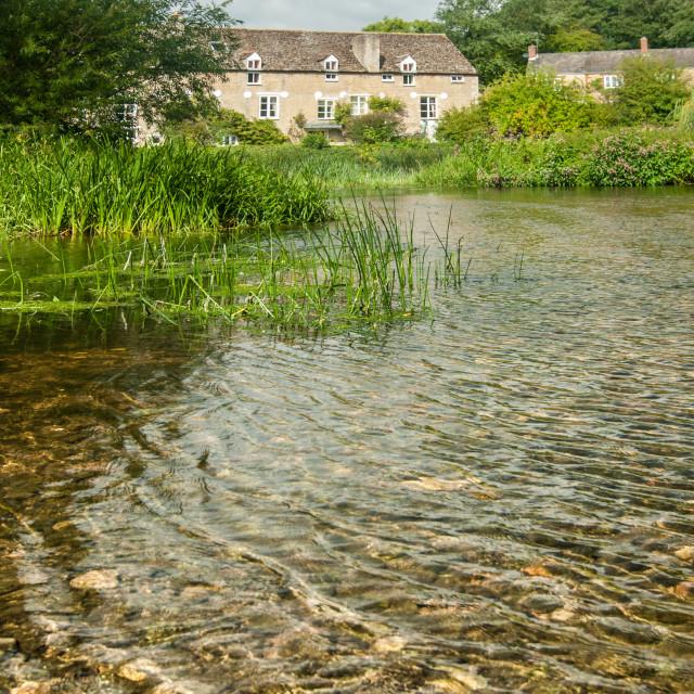 """""""Wadenhoe Mill - 2"""" stock image"""