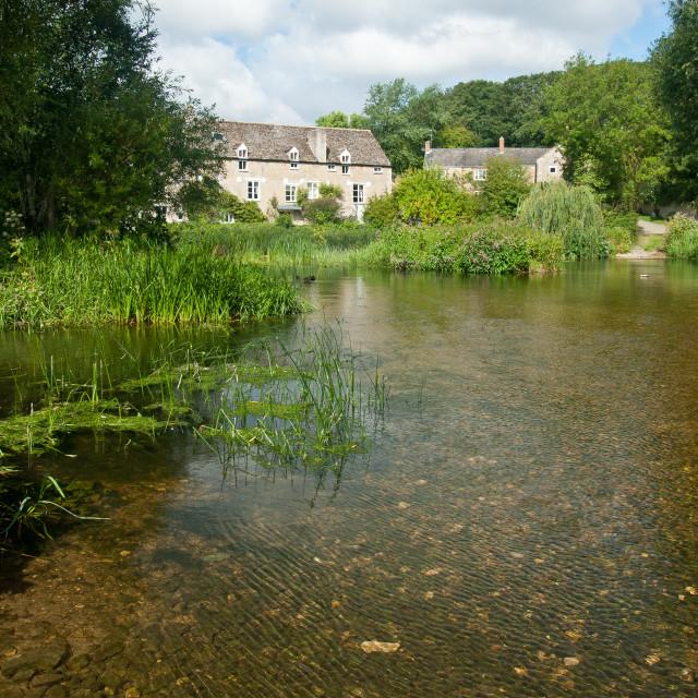 """""""Wadenhoe Mill - 4"""" stock image"""