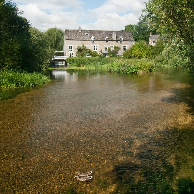 """""""Wadenhoe Mill - 6"""" stock image"""