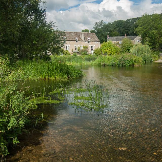 """""""Wadenhoe Mill - 3"""" stock image"""