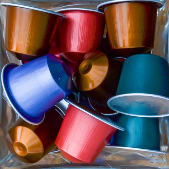 """""""Coffee capsules"""" stock image"""