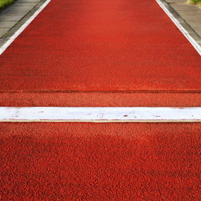 """Long jump spring plank"" stock image"