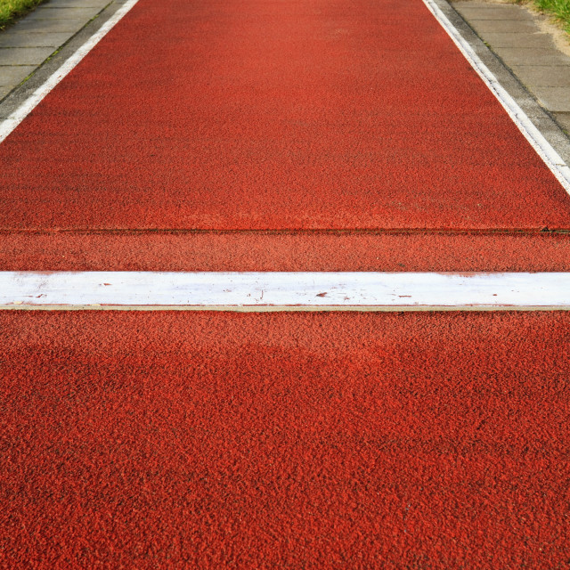 """Long jump track"" stock image"