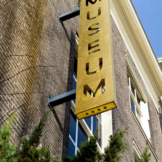 """Metal museum sign"" stock image"