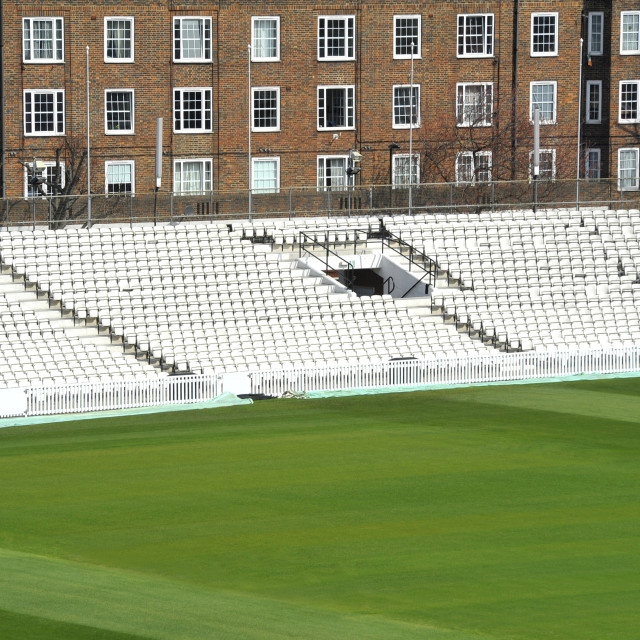 """cricket ground seating"" stock image"