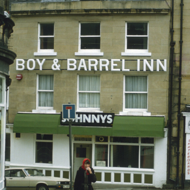 """Boy and Barrel Inn Huddersfield, West Yorkshire."" stock image"
