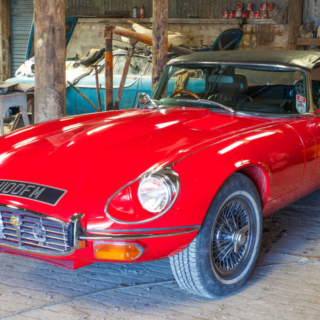 """""""Jaguar E'type"""" stock image"""