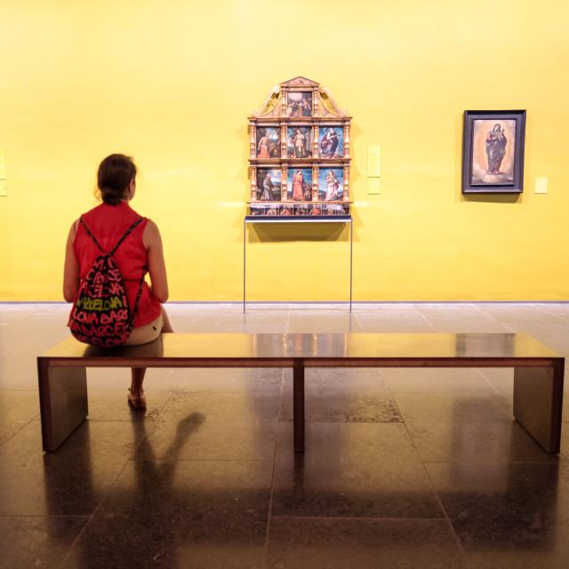 """Art Contemplation"" stock image"