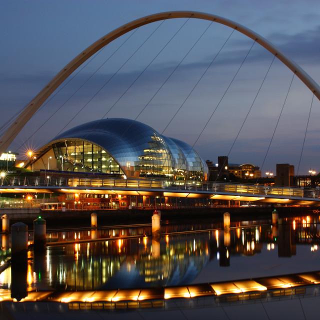 """Reflections On The Tyne"" stock image"