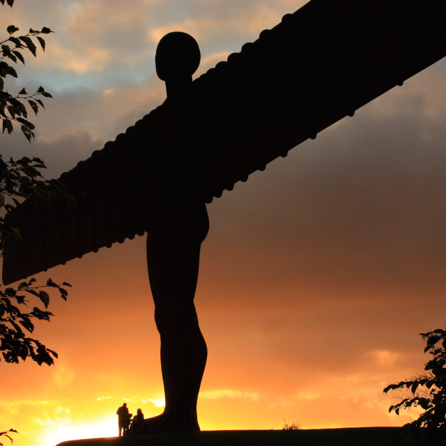 """Angel of the North Sunset, Newcastle-Gateshead"" stock image"