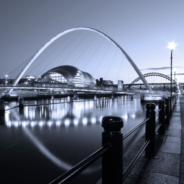 """Newcastle-Gateshead Millennium Bridge, Tyne and Wear"" stock image"
