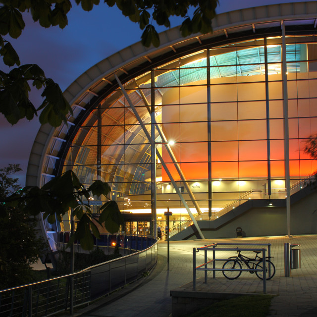 """The Sage Centre at Dusk, Newcastle-Gateshead, Tyne and Wear"" stock image"