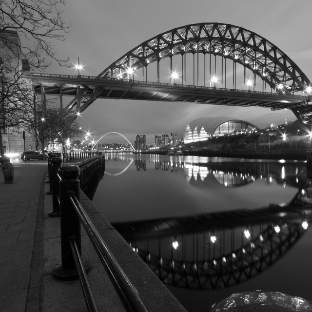 """The Tyne Bridge, Newcastle-Gateshead, Tyne and Wear"" stock image"