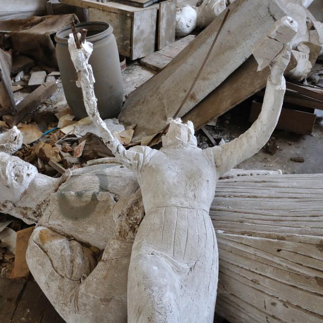 """headless sculpture ancient goddess"" stock image"