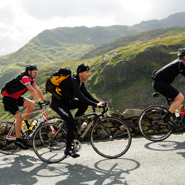 """Tour of Britain ,Stage 4 -Stoke-On-Trent to Llanberis(Pen-Y-Pas)."" stock image"