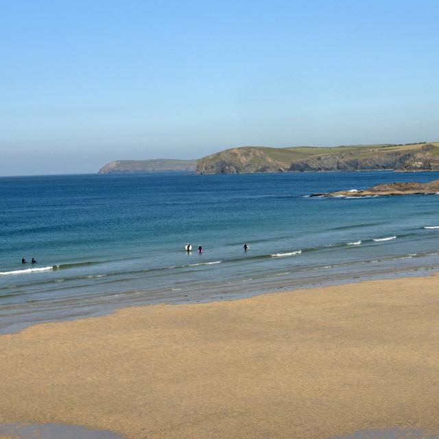 """""""Harlyn Bay, Cornwall"""" stock image"""