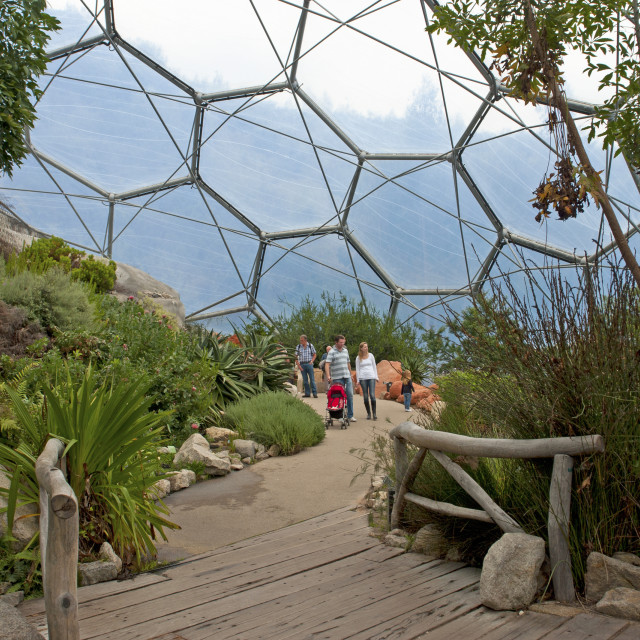 """""""Eden project, Cornwall"""" stock image"""