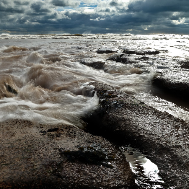 """""""Exmouth Tide"""" stock image"""