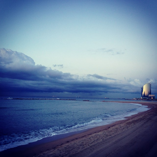 """Beach at Sunrise"" stock image"