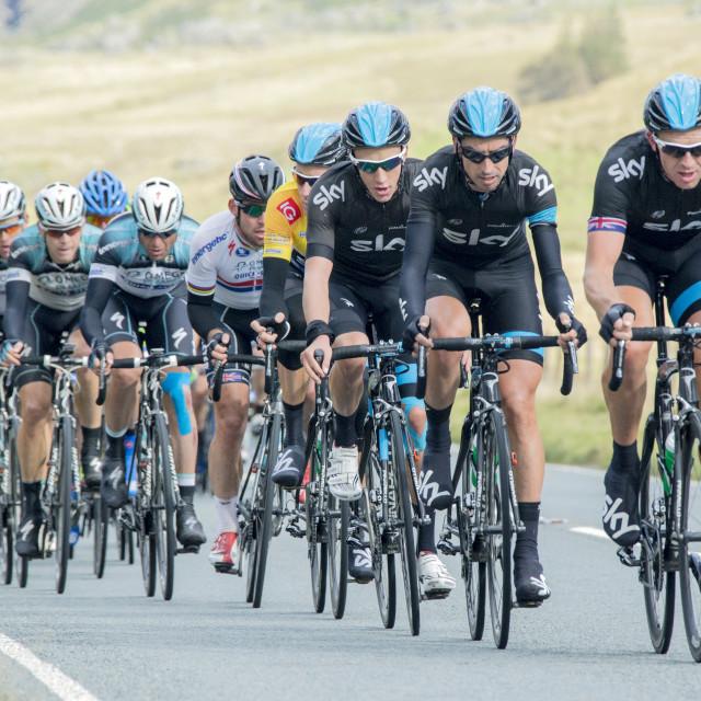 """Tour of Britain 2013"" stock image"