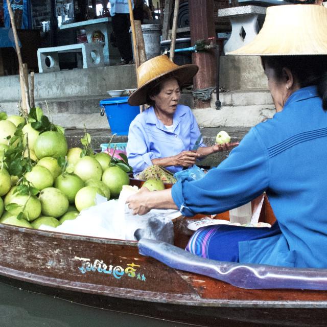"""Fruit Seller, Floating Market"" stock image"