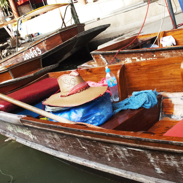 """Thai Hat on Boat in Floating Market"" stock image"