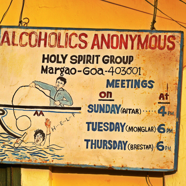 """Alcoholics Anonymous"" stock image"