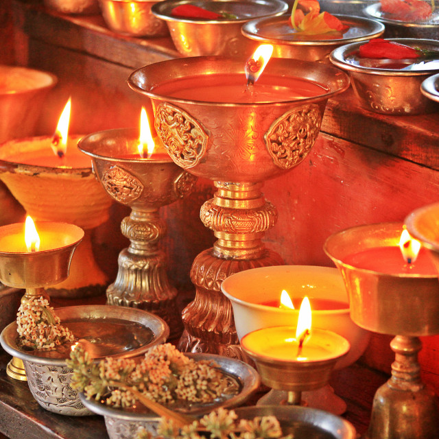 """Butter Lamps"" stock image"